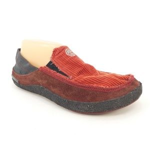 Timberland Red Corduroy & Leather Casual Loafersm